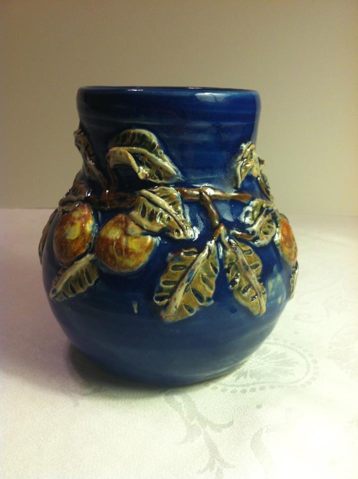 Cobalt Blue Arts And Crafts Vase Lisas Berry Bowls