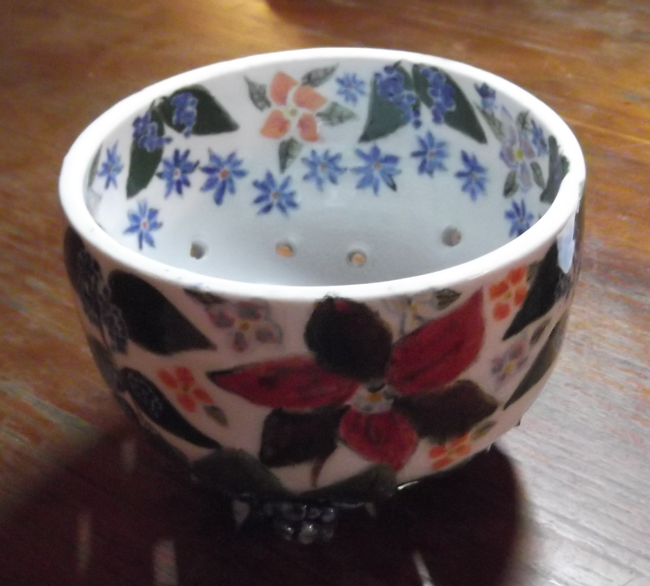 Blue Berry Flower Berry Bowl